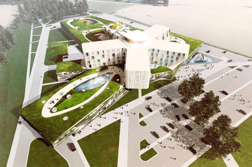 (HOFM) szpital wielospecjalistyczny zoddziałem transplantologii, OIOM, SOR, zzespołem sal operacyjnych | martin, słowacja.