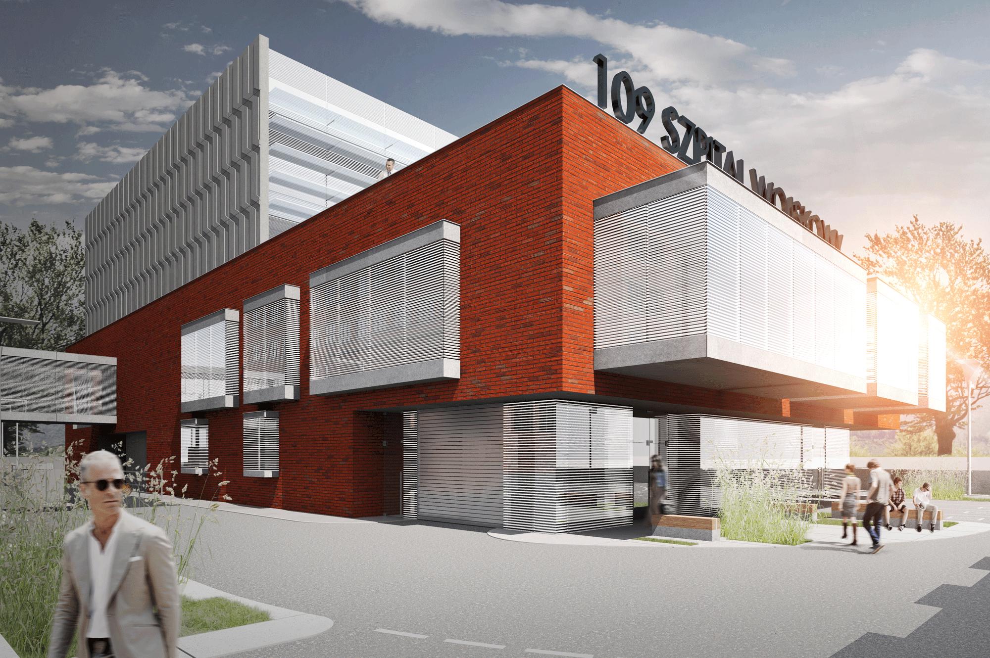 109 sw, rozbudowa szpitala ooddział ginekologiczno-położniczy, OIOM, zespół sal operacyjnych, centralną sterylizatornię   piotra skargi, szczecin