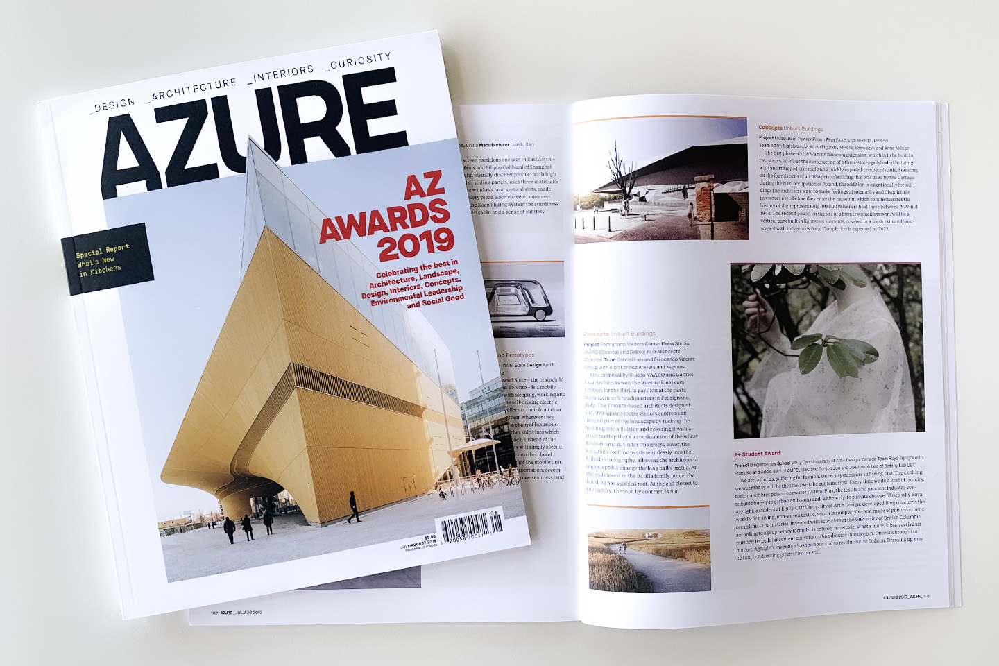 "Museum of Prison Pawiak received ""Award of Merit"" 2019 AZ Awards for Design Excellence"