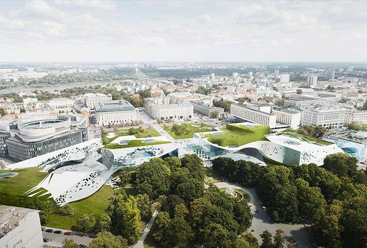 projekt polska 2118, rozbudowa zachęty, mediateka, muzeum grobu nieznanego żołnierza, eksploratorium | plac piłsudskiego, warszawa