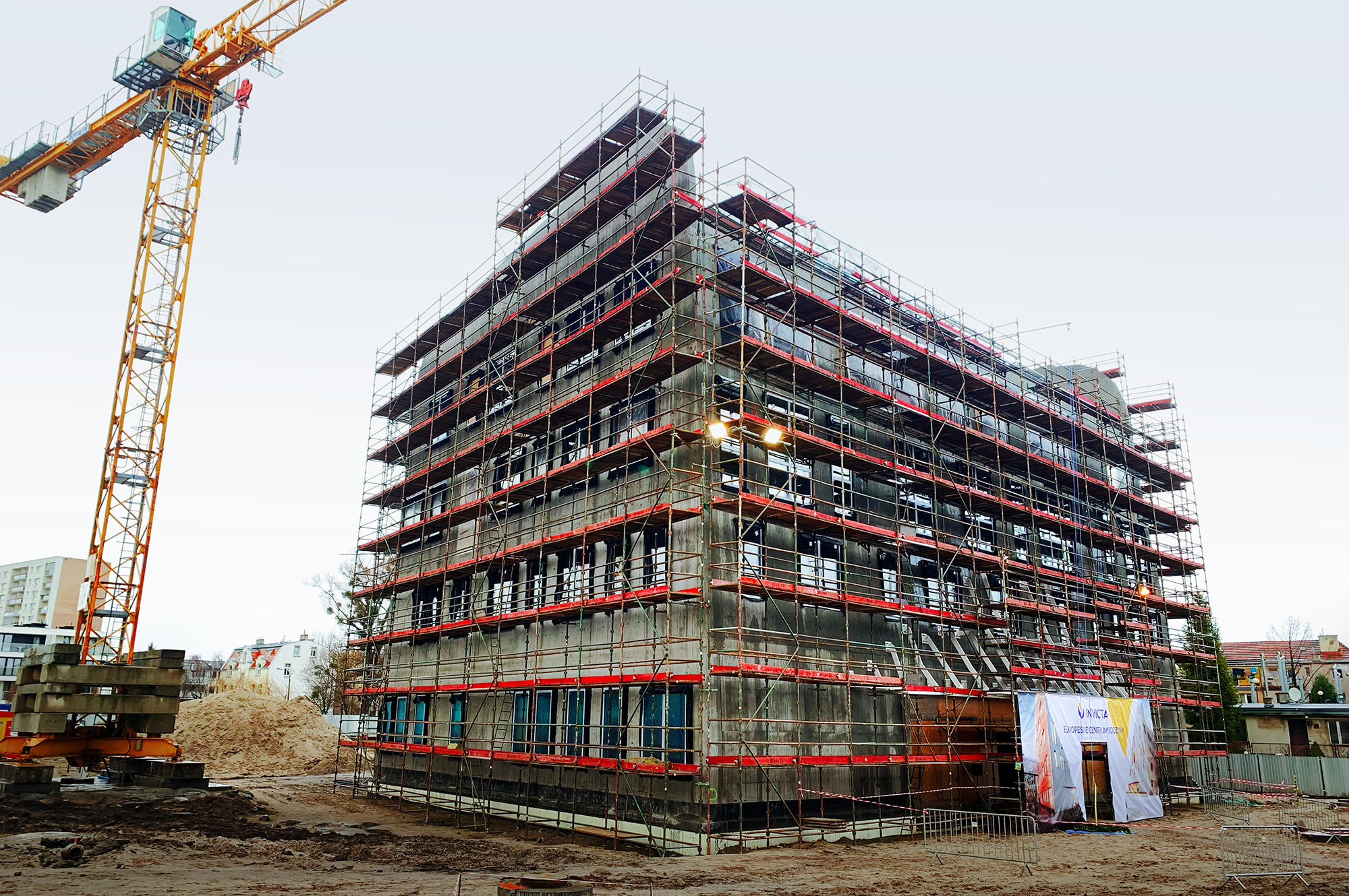 """On the 31st of January, a""""topping out ceremony"""" took place at the B1 building of the European Family Center"""